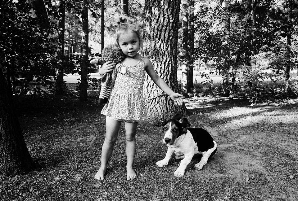 Teresa Engle, Megan with her Two Loves, Wisconsin, 1992