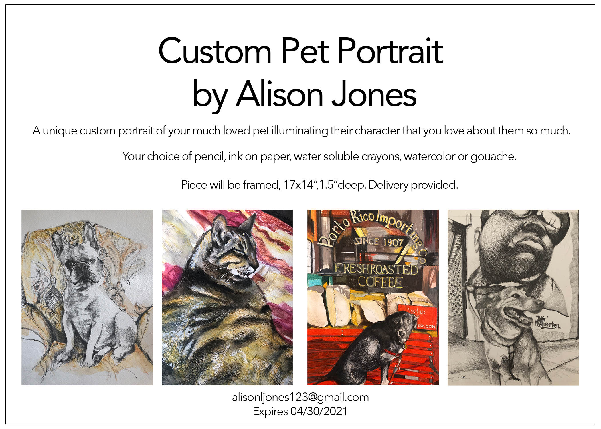 Alison Jones, Custom Pet Portrait